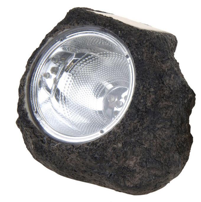 Lampa Solarna 14x12cm Kamień Czarny