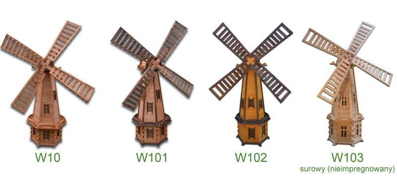 Modish Wiatrak drewniany ozdoba ogrodowa 235 cm - GardenWorld - sklep MQ11