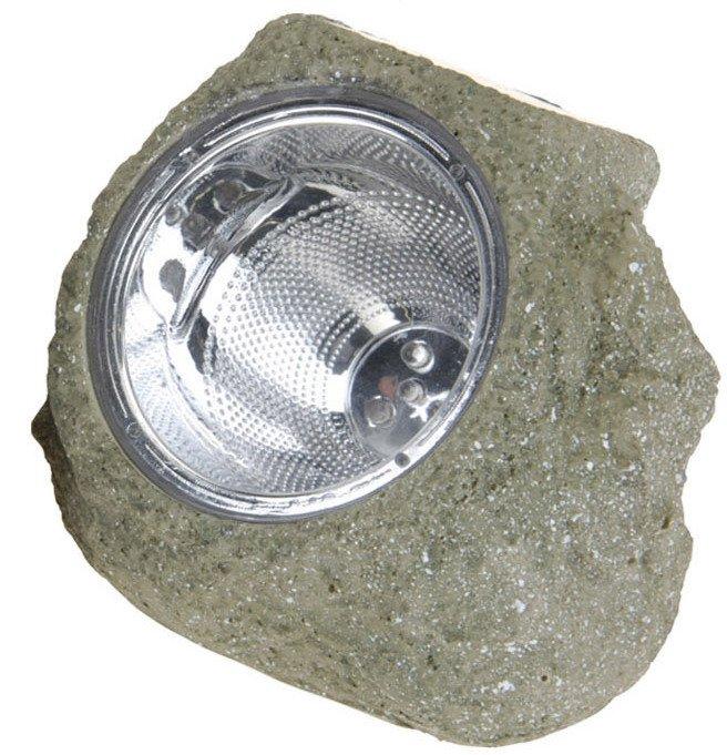 Lampa Solarna 14x12cm Kamień Brązowy