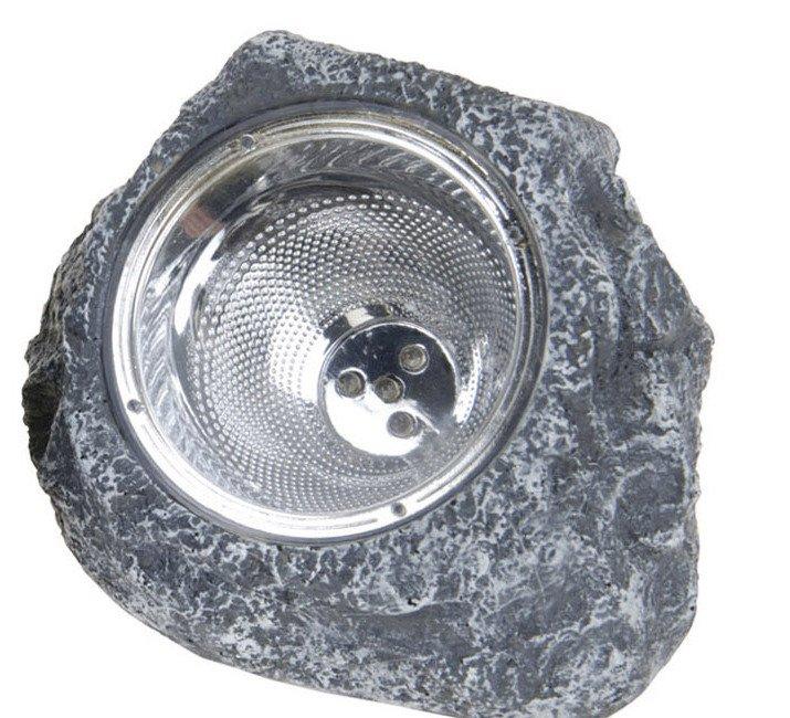 Lampa Solarna 14x12cm Kamień Ciemny Szary
